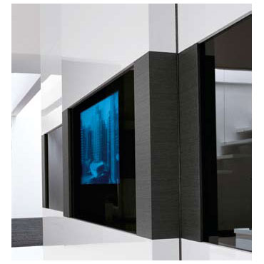 Tecnopolis wardrobe with Dama TV door panel