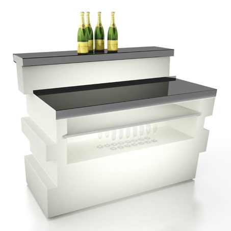 further small wet bar with wine cooler on furniture bar counters