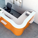 Wave reception desk - thumbnail
