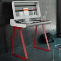 PS08 secretary table red frame