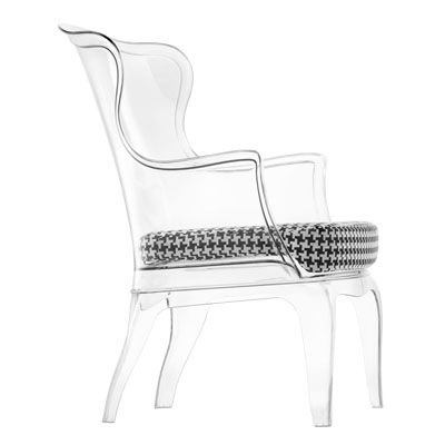 Pedrali Pasha armchair footstool – Clear Arm Chair