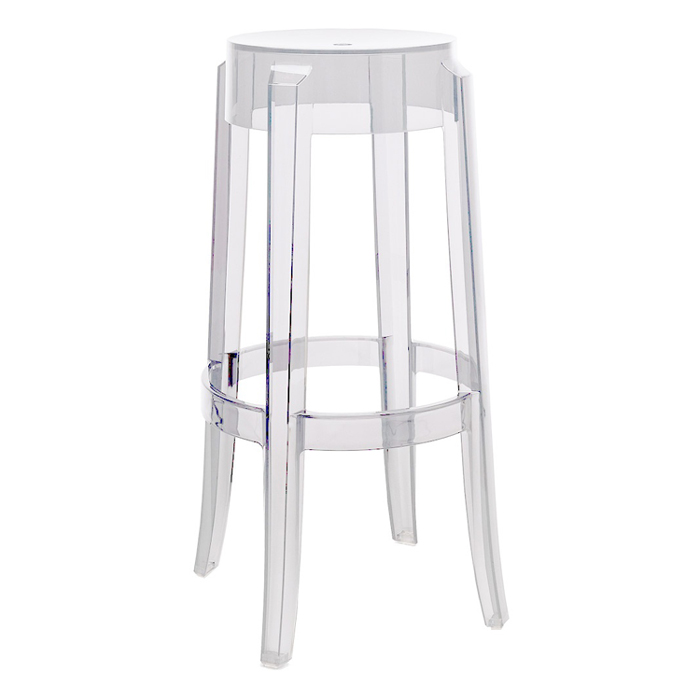 Kartell charles ghost stool designed by philippe starck for Chaise ghost philippe starck