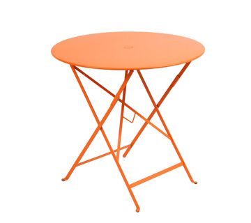 Fermob Bistro Circular Folding Table   Carrot